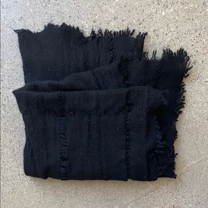Black Madewell wool scarf